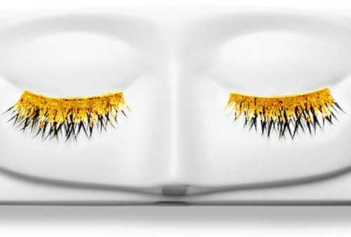Gold and diamond eyelashes by Kre at Beauty
