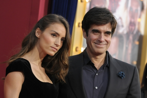 David Copperfield with his girlfriend Chloe Gosselin